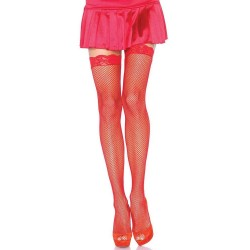 Fishnet Garter Stockings with Lace Top - Red CrossDress Fashions  Womens Clothing for Crossdressers, TG, Female Impersonators