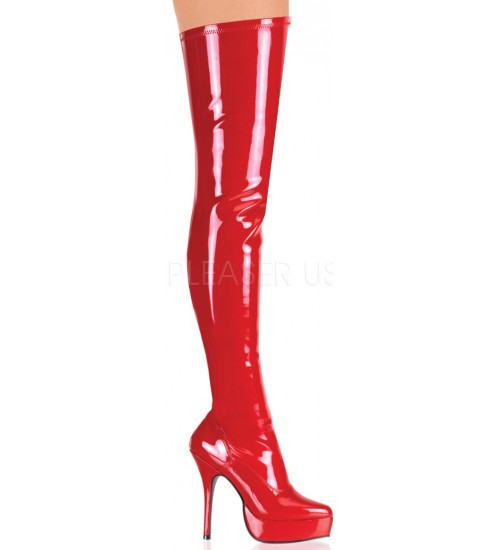 Red Indulge 3000 Thigh High Platform Boot at CrossDress Fashions,  Womens Clothing for Crossdressers, TG, Female Impersonators