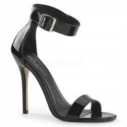 Amuse Black Ankle Strap Sandal CrossDress Fashions  Womens Clothing for Crossdressers, TG, Female Impersonators