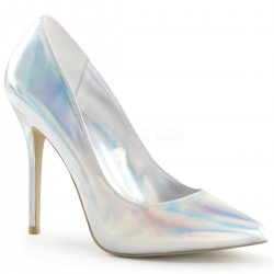 Amuse Silver Hologram 5 Inch High Heel Pump CrossDress Fashions  Womens Clothing for Crossdressers, TG, Female Impersonators