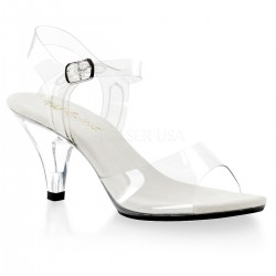 Belle Clear Peep Toe Sandal CrossDress Fashions  Womens Clothing for Crossdressers, TG, Female Impersonators