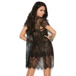Black Lace Peignoir Set at CrossDress Fashions,  Womens Clothing for Crossdressers, TG, Female Impersonators