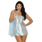 Baby Blue 2 Piece Peignoir Set at CrossDress Fashions,  Womens Clothing for Crossdressers, TG, Female Impersonators