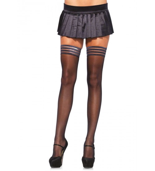 Stay Up Sheer Thigh High Stockings  - Pack of 3 at CrossDress Fashions,  Womens Clothing for Crossdressers, TG, Female Impersonators
