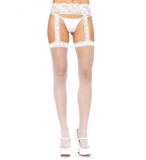 Lace Garter Belt Suspender Sheer Stockings  - Pack of 3 at CrossDress Fashions,  Womens Clothing for Crossdressers, TG, Female Impersonators