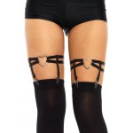 Black Heart Leg Garters at CrossDress Fashions,  Womens Clothing for Crossdressers, TG, Female Impersonators