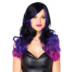 Allure Black Wig with Purple Tips CrossDress Fashions  Womens Clothing for Crossdressers, TG, Female Impersonators