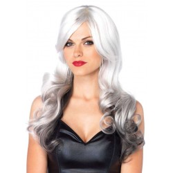 Allure Gray Wig with Black Tips CrossDress Fashions  Womens Clothing for Crossdressers, TG, Female Impersonators