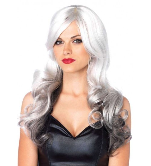 Allure Gray Wig with Black Tips at CrossDress Fashions,  Womens Clothing for Crossdressers, TG, Female Impersonators