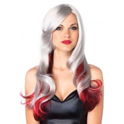 Allure Gray Wig with Red Tips CrossDress Fashions  Womens Clothing for Crossdressers, TG, Female Impersonators