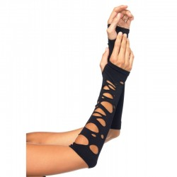 Black Shredded Arm Warmers CrossDress Fashions  Womens Clothing for Crossdressers, TG, Female Impersonators