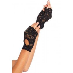 Black Lace Keyhole Back Fingerless Gloves CrossDress Fashions  Womens Clothing for Crossdressers, TG, Female Impersonators