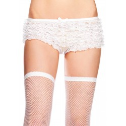 White Micromesh Ruffle Plus Size Tanga Short CrossDress Fashions  Womens Clothing for Crossdressers, TG, Female Impersonators
