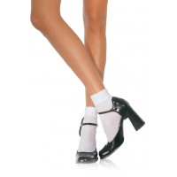 White Cuffed Anklets for Women