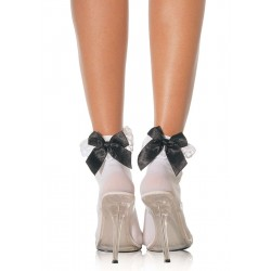 Bow and Lace Ruffle Trimmed Anklet Socks CrossDress Fashions  Womens Clothing for Crossdressers, TG, Female Impersonators
