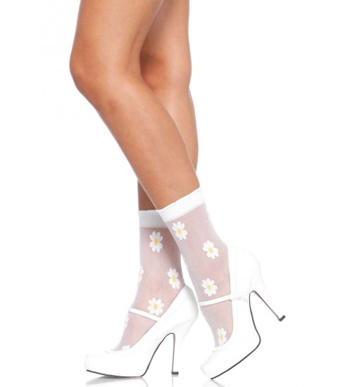 Daisy Spandex Anklets Pack of 3 at CrossDress Fashions,  Womens Clothing for Crossdressers, TG, Female Impersonators