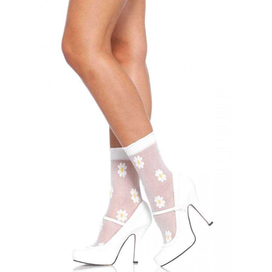 dbd0dcad7 Daisy Spandex Anklets Pack of 3 at CrossDress Fashions