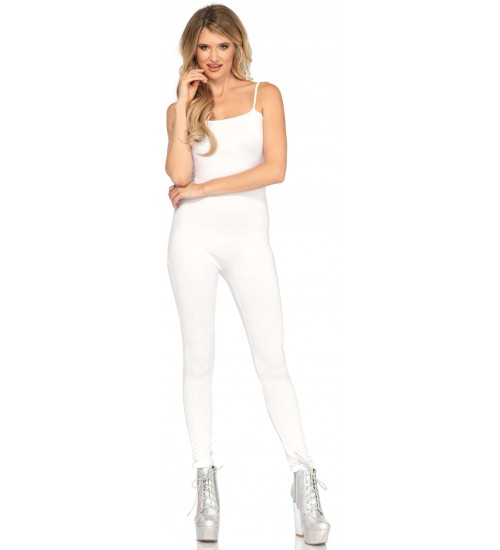 Basic Womens Unitard in White at CrossDress Fashions,  Womens Clothing for Crossdressers, TG, Female Impersonators