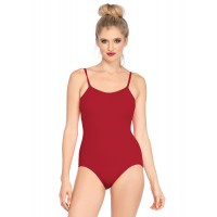 Basic Red Womens Bodysuit