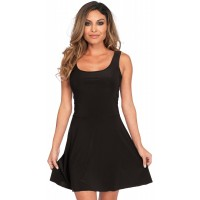 Basic Black Womens Skater Dress