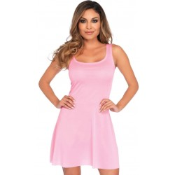 Basic Pink Womens Skater Dress CrossDress Fashions  Womens Clothing for Crossdressers, TG, Female Impersonators