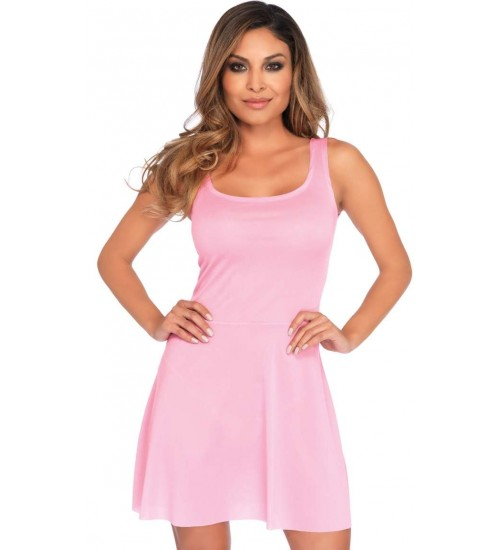 Basic Pink Womens Skater Dress at CrossDress Fashions,  Womens Clothing for Crossdressers, TG, Female Impersonators