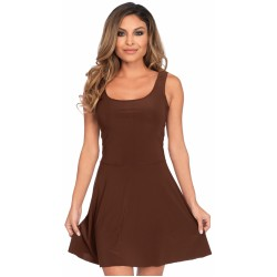 Basic Brown Womens Skater Dress CrossDress Fashions  Womens Clothing for Crossdressers, TG, Female Impersonators