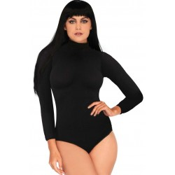 Black High Neck Long Sleeve Bodysuit CrossDress Fashions  Womens Clothing for Crossdressers, TG, Female Impersonators