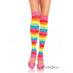 Rainbow Striped Leg Warmers