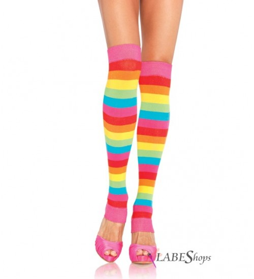 Rainbow Striped Leg Warmers at CrossDress Fashions,  Womens Clothing for Crossdressers, TG, Female Impersonators