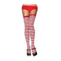 Stripped Thigh High Stockings 3 Pack