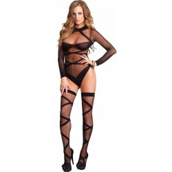 Cross Strap Teddy and Stockings Set CrossDress Fashions  Womens Clothing for Crossdressers, TG, Female Impersonators
