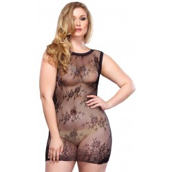 Black Floral Lace Curvy Size Chemise CrossDress Fashions  Womens Clothing for Crossdressers, TG, Female Impersonators