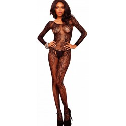 Black Swirl Lace Bodystocking CrossDress Fashions  Womens Clothing for Crossdressers, TG, Female Impersonators