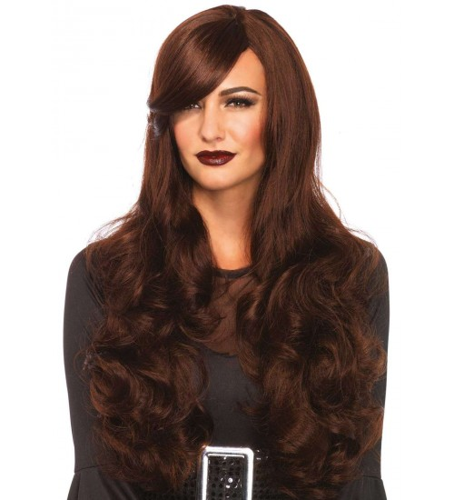 Extra Long Brown Wavy Wig at CrossDress Fashions,  Womens Clothing for Crossdressers, TG, Female Impersonators