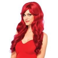 Extra Long Red Wavy Wig