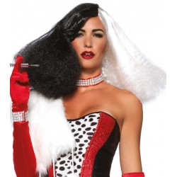 Black and White Cruella Costume Wig CrossDress Fashions  Womens Clothing for Crossdressers, TG, Female Impersonators