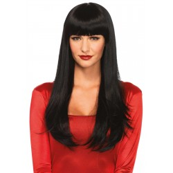 Black Banging Long Straight Wig CrossDress Fashions  Womens Clothing for Crossdressers, TG, Female Impersonators