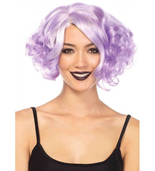 Lavender Curly Bob Short Wig at CrossDress Fashions,  Womens Clothing for Crossdressers, TG, Female Impersonators
