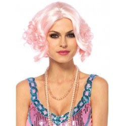 Pink Curly Bob Short Wig CrossDress Fashions  Womens Clothing for Crossdressers, TG, Female Impersonators