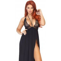 Black Brushed Jersey Nightgown CrossDress Fashions  Womens Clothing for Crossdressers, TG, Female Impersonators