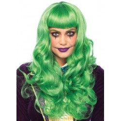 Misfit Mayhem Long Green Wavy Wig CrossDress Fashions  Womens Clothing for Crossdressers, TG, Female Impersonators