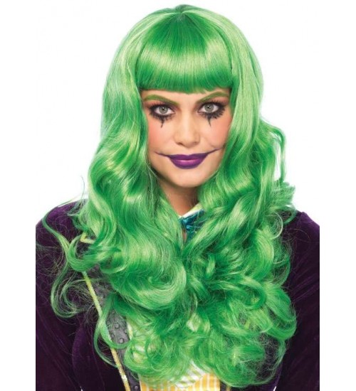 Misfit Mayhem Long Green Wavy Wig at CrossDress Fashions,  Womens Clothing for Crossdressers, TG, Female Impersonators