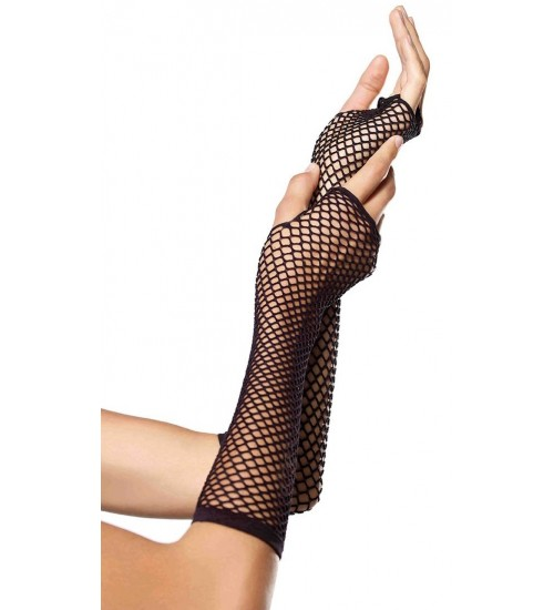 Black Triangle Net Fingerless Gloves at CrossDress Fashions,  Womens Clothing for Crossdressers, TG, Female Impersonators