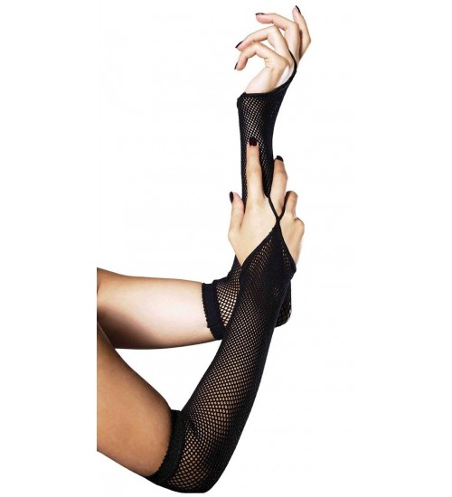 Black Fishnet Arm Warmers at CrossDress Fashions,  Womens Clothing for Crossdressers, TG, Female Impersonators