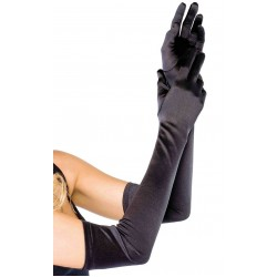 Satin Extra Long Black Opera Gloves CrossDress Fashions  Womens Clothing for Crossdressers, TG, Female Impersonators
