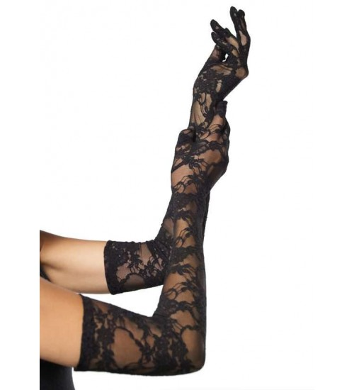 Elegant Black Lace Opera Gloves at CrossDress Fashions,  Womens Clothing for Crossdressers, TG, Female Impersonators
