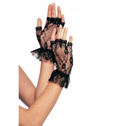 Ruffled Lace Wrist Length Fingerless Gloves CrossDress Fashions  Womens Clothing for Crossdressers, TG, Female Impersonators