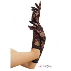 Black Elbow Length Lace Gloves CrossDress Fashions  Womens Clothing for Crossdressers, TG, Female Impersonators