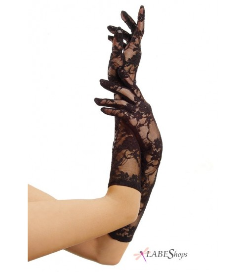 Black Elbow Length Lace Gloves at CrossDress Fashions,  Womens Clothing for Crossdressers, TG, Female Impersonators
